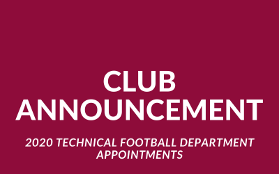 Altona City Technical Football Department Appointments