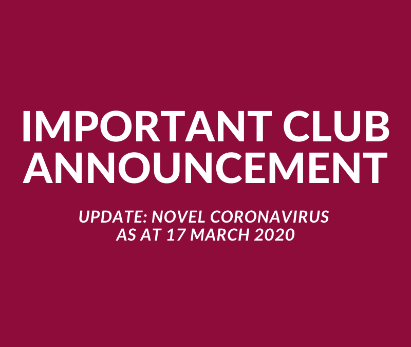 Important Club Announcement