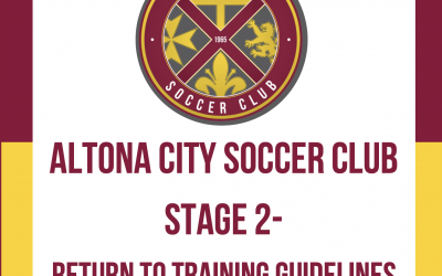 STAGE 2 – Return to Training Guidelines – 1 June 2020