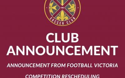 Club Announcement – Competition Rescheduling & Cancellations