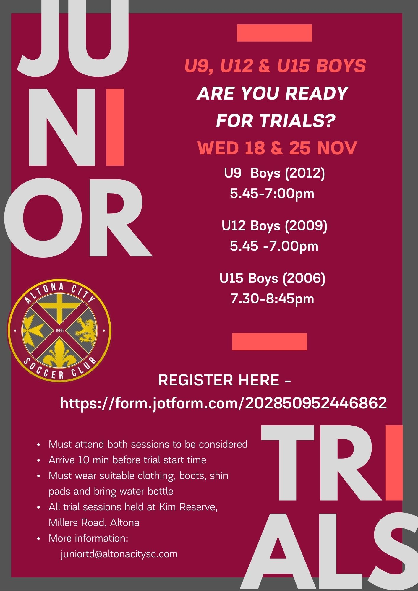 ACSC Junior Trials 2021