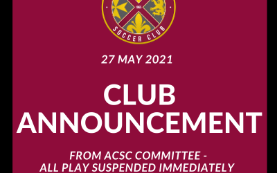 Important Announcement from ACSC Committee